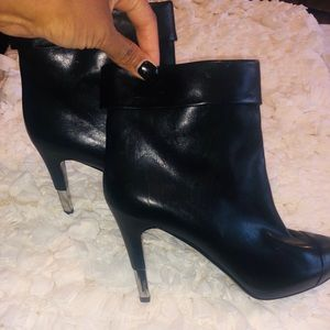 Chanel Black Ankle Booties Size 41